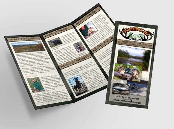View Brochure Design for Maine Hunting Outfitter