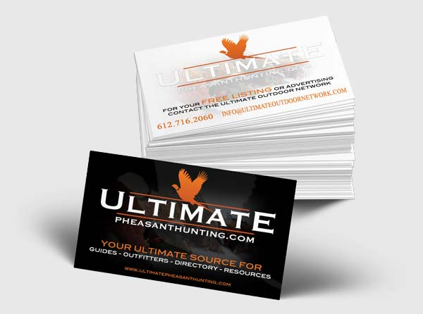 View Business Cards for Ultimate Pheasant Hunting