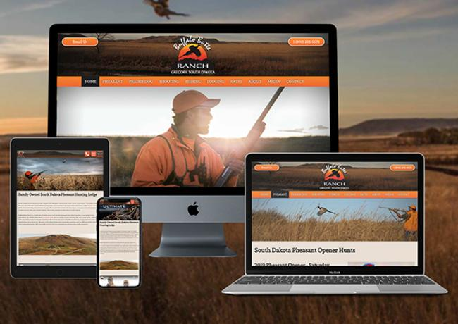 Pheasant Hunting & Outdoors Web Design