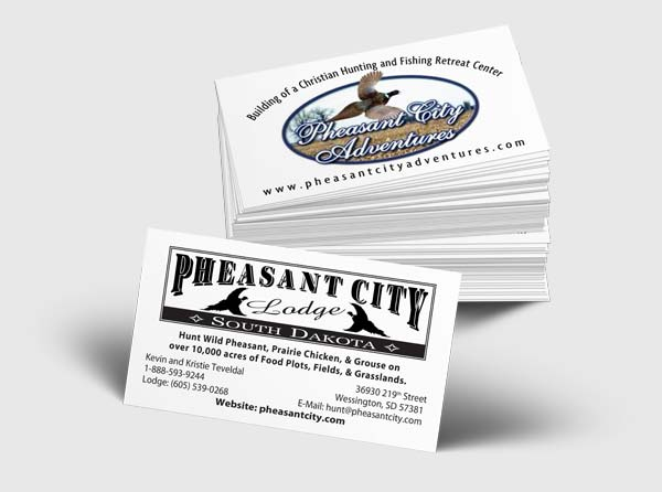 Pheasant Lodge Business Cards