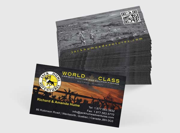 View Caribou Hunting Outfitter Business Cards