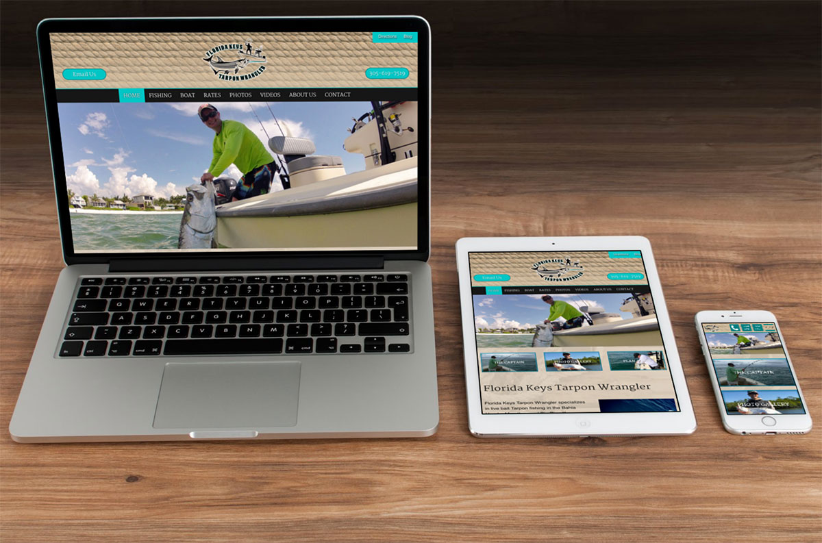Saltwater Fishing Web Design