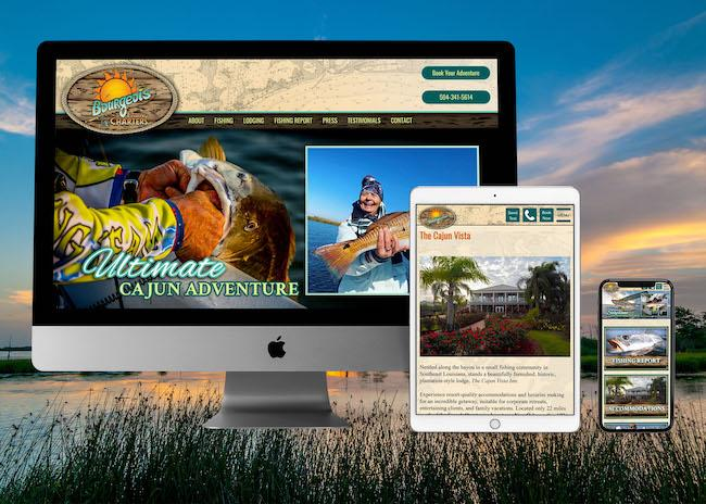 View Louisiana Fishing Charter Web Design