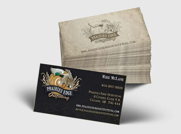 Hunting Outfitter Business Cards