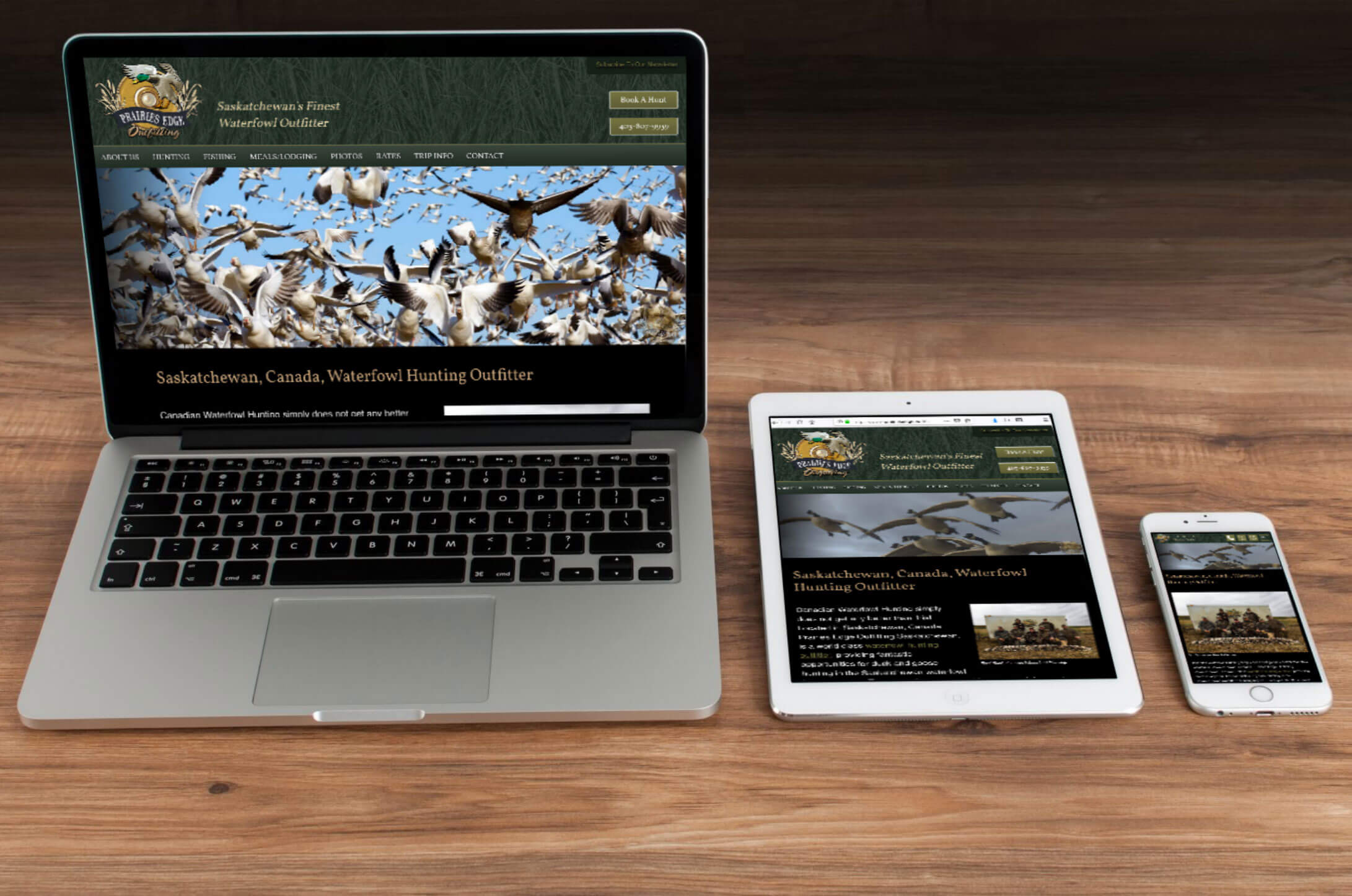 Waterfowl Outdoors Web Design